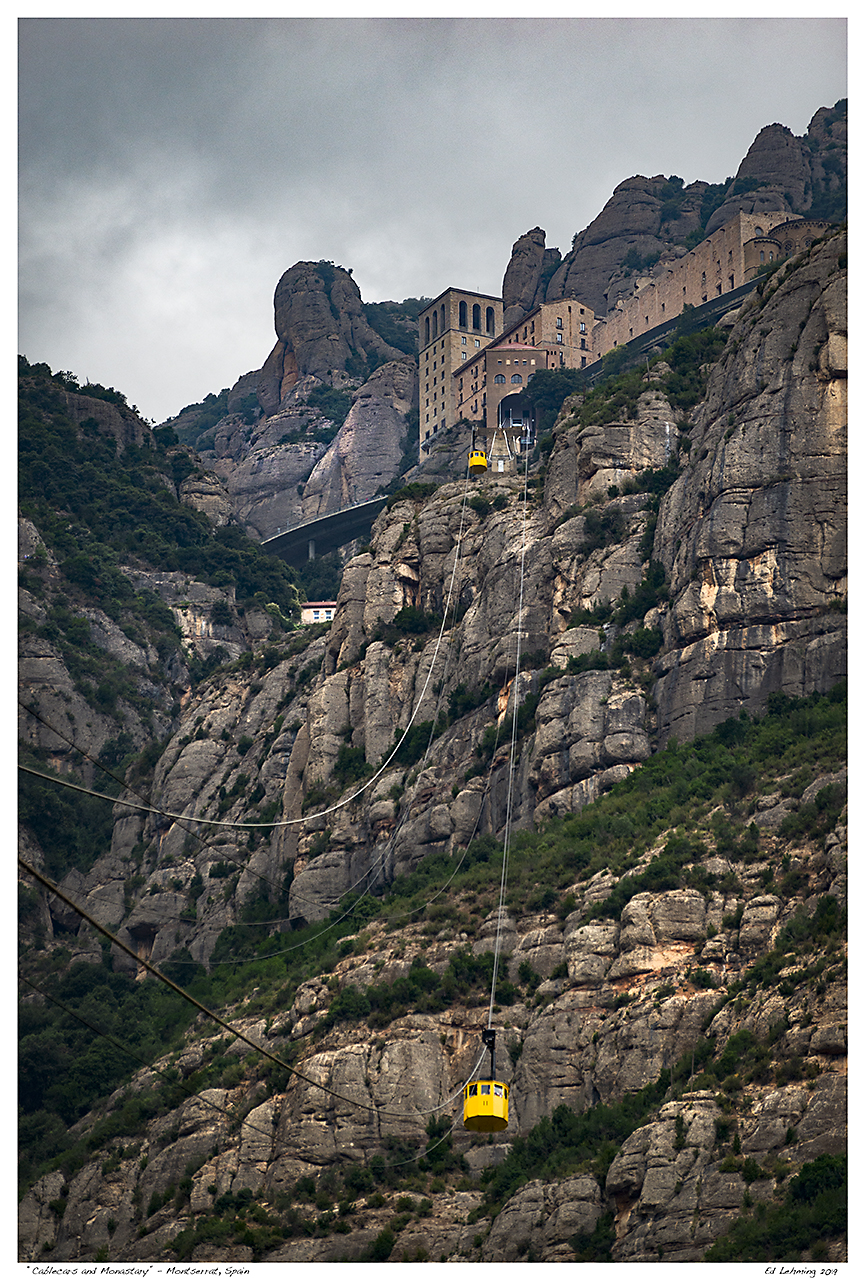 """Cablecars and Monastary"" - Montserrat, Spain"
