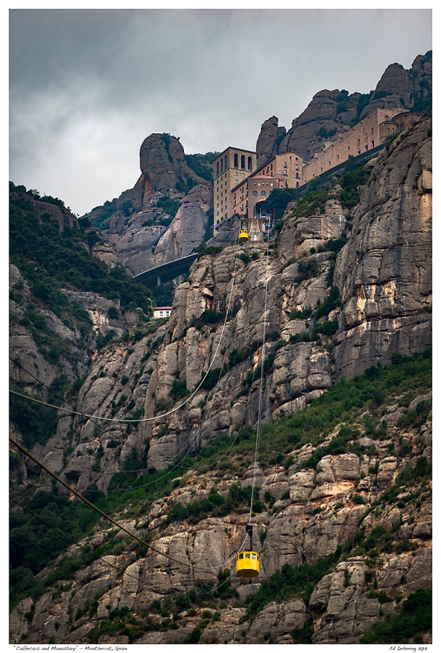 """Cablecars and Monastary"" - Montserrat, Spain"
